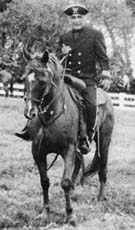 Thomas Weston Lindsey (4th Generation) riding for Captain Lindsey on his horse Parade.