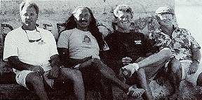 Board of Directors for Pua Ka'ilima Surf Park: Dave Barclay, Tiger Espere, Bob Simms and Roger Harris.